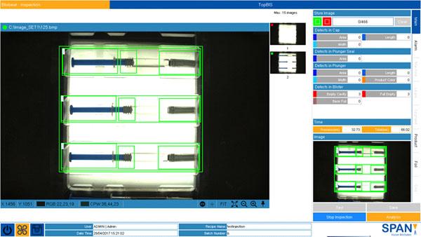 Blister inspection software